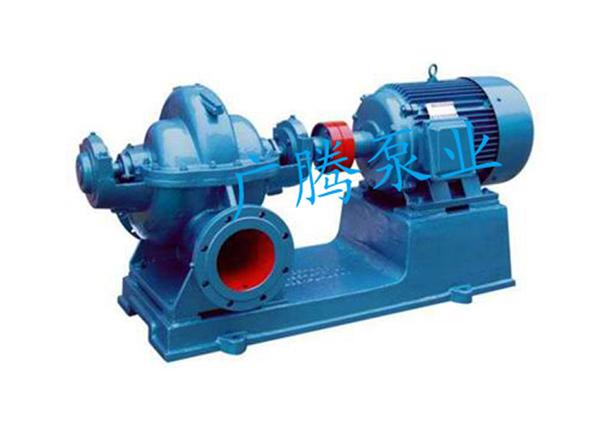 sh型中开式单级双吸离心泵】结构图